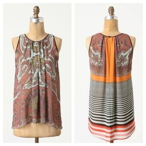 Anthropologie Dream Daily Paisley Moment Top Sz XS